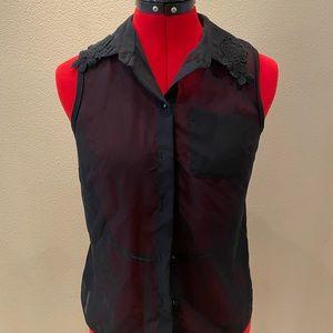 Vera wang sleeveless black top